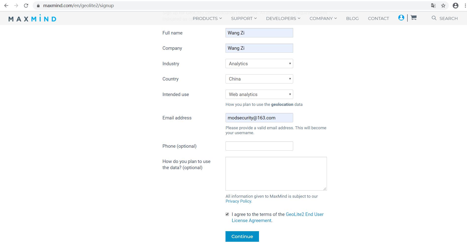如何注册MAXMIND账户并下载免费的GeoIP数据库
